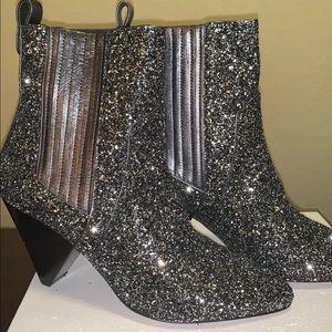 Veronica Beard Glitter Booties size 38 NWOT
